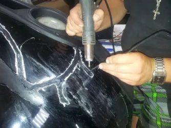 Как склеить пластиковый бампер своими руками?